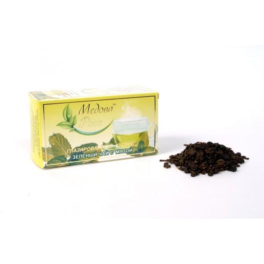 Зелёный сладкий глазурованный мятный чай  50гр.